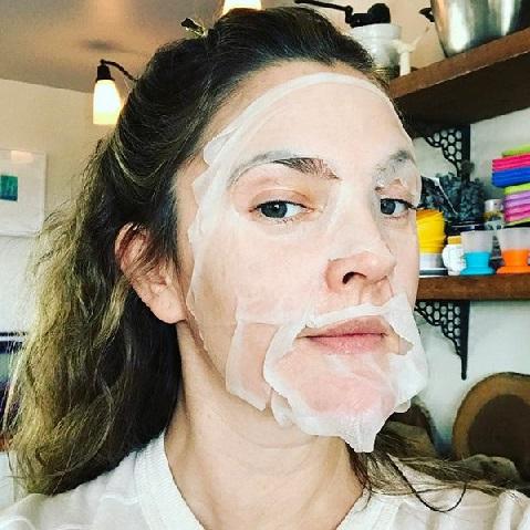 Drew Barrymore sheet mask